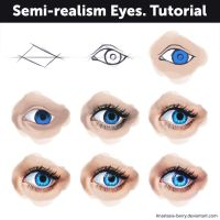 Semi-realism eyes - Tutorial by Anastasia-berry