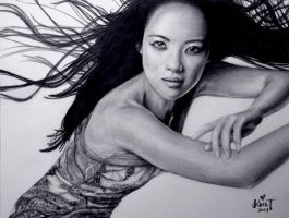 Ziyi Zhang Drawing by kristymariethomas