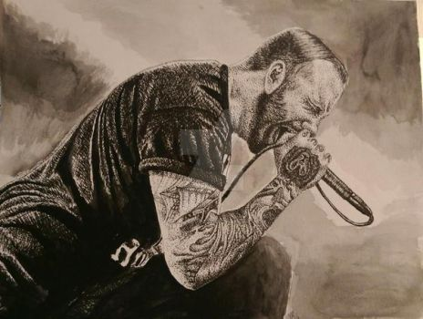Ink Drawing - Jake Luhrs by ThrowYourRoses