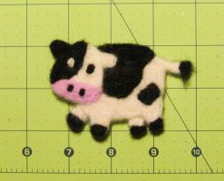 Cow Needle Felting by TheChainsawUnicorn