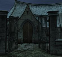 Night chapel background by indigodeep