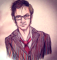 Tenth doctor Drawing by lam8507