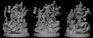 Vicar fighting zombies model 2 by alterton