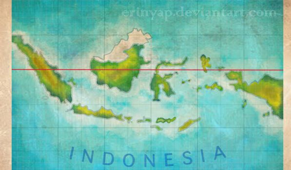 old map of Indonesia by erinyap