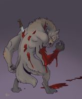 Somewhat late Draw A Werewolf Day! by Pachycrocuta