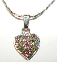 Jewelery -Heart Necklace-Close by Gracies-Stock
