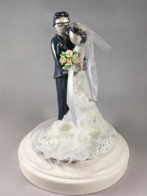 Custom Wedding Cake Topper 2 by minnichi