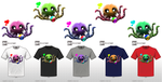 Wuggy the Adorable Tentacle Monster T-Shirt by RavinWood
