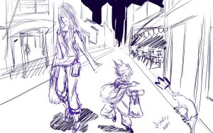 Tenjo Tenge some sketch by hannsamu