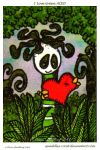 I Love Green  ATC 13 by Quaddles-Roost