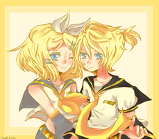 len and rin by kyojean