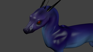 unfinished 3D dragon thing by Mourlie