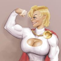 powergirl quick painting by clc1997