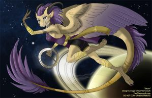 [Character Design] Heavenly Anthros:  Saturn by Ulario
