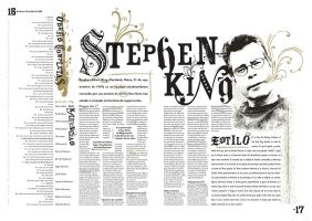 Stephen King Newspaper Spread by punksafetypin