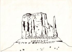 Butte in Monument Valley by SupermanLovesAspen