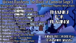 Wicked Manifesto: The Music of Canterlot 3 (Back) by DJ-Bleach