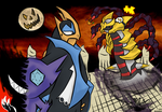 Giratina's come to bring you spooks 'n sweets! by Mirax96