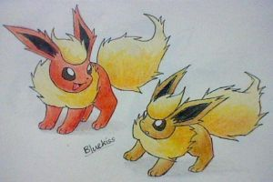 Flareon Colours by Bluekiss131