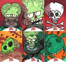 FORE SALE - Mars Attacks INVASION Return Cards by JoeHoganArt