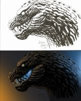 Godzilla Colored by Paul-Romero