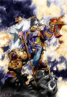 Wh40k SpaceMarine by AguilaDeAcero