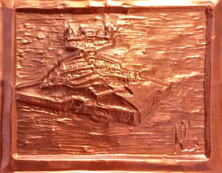 Imperial Class Star Destroyer (Embossed Copper)  by wortmore