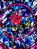 Stained Glass Rose by Arkayna-86