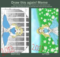 meme__before_and_after zelda Triforce of the gods by Gisux