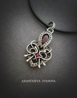 Pendant with ruby by nastya-iv83