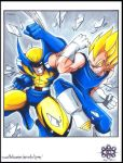 ::E.VS.W Wolverine VS Vegeta:: by Turboman