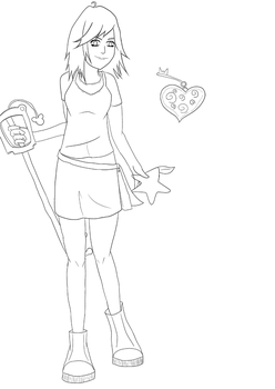 Kairi Cosplay Design WIP by Feynix