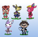 Animal Crossing towns people by rongs1234