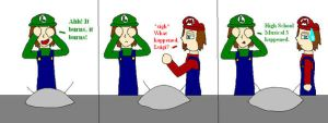 Luigi's Scared of HSM 3 by CrazyBatLady