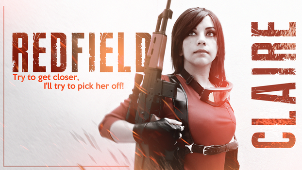 Claire Redfield sniper cosplay RE Rev 2 by VickyxRedfield
