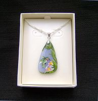 Hummingbird Necklace by pyro-helfier