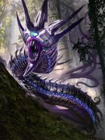 Galaxy Saga- Space Wurm by jason-felix