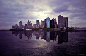 Manhattan skyline by CandyMilla