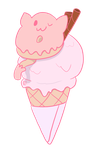 Ice Cream Donut Cat by inthedesertwithgirls