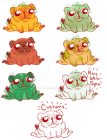 Pugkin Adopts!! by MissPomp