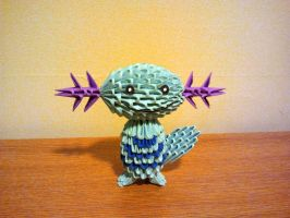3D Origami Wooper by pokegami