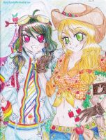 * Dashie and AJ Gijinka * by FlyingCatsandGlitter