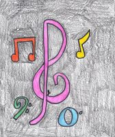 For My Sister: Music Notes by EnderTrouble