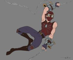 Steampunk Spidey WIP by umbrafox