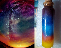 Bottle of galaxy by TimothySparrow