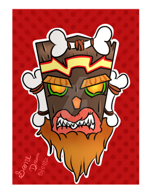 Uka Uka (Crash Bandicoot) by SconeDream