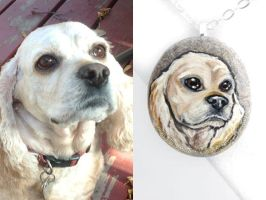 Custom Cocker Spaniel Pendant Necklace by sobeyondthis