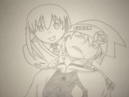 Soul and maka by The-Distorted-Puppet