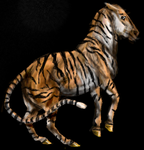 3D tiger-horse thing by alexandrabirchmore