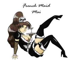 French Maid Mai shiranui by drago-flame
